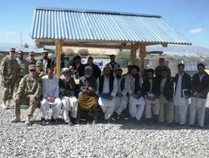 Members of NE ADT2, UNL Extension Educator Vaughn Hammond, and Afghan Extension agents after a train the trainer program.