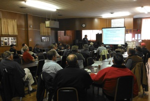 Al Vyhnalek, UNL Extension Educator teaching at the Landlord-tenant lease workshops