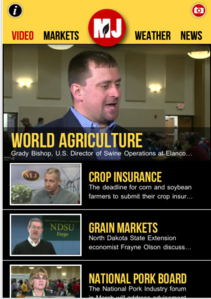 MJ app from UNL Extension based off Market Journal TV show http://marketjournal.unl.edu