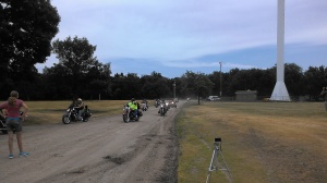 Over 40 Patriot Riders from Omaha to Hastings escorted the Remembering Our Fallen Memorial to the Clay County Fairgrounds.