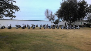 Very touching to see all the Patriot Riders escort the Memorial to the fairgrounds.