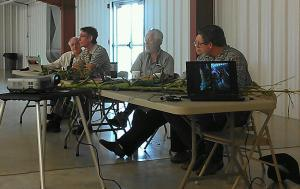 Panel discussion during storm damage meeting