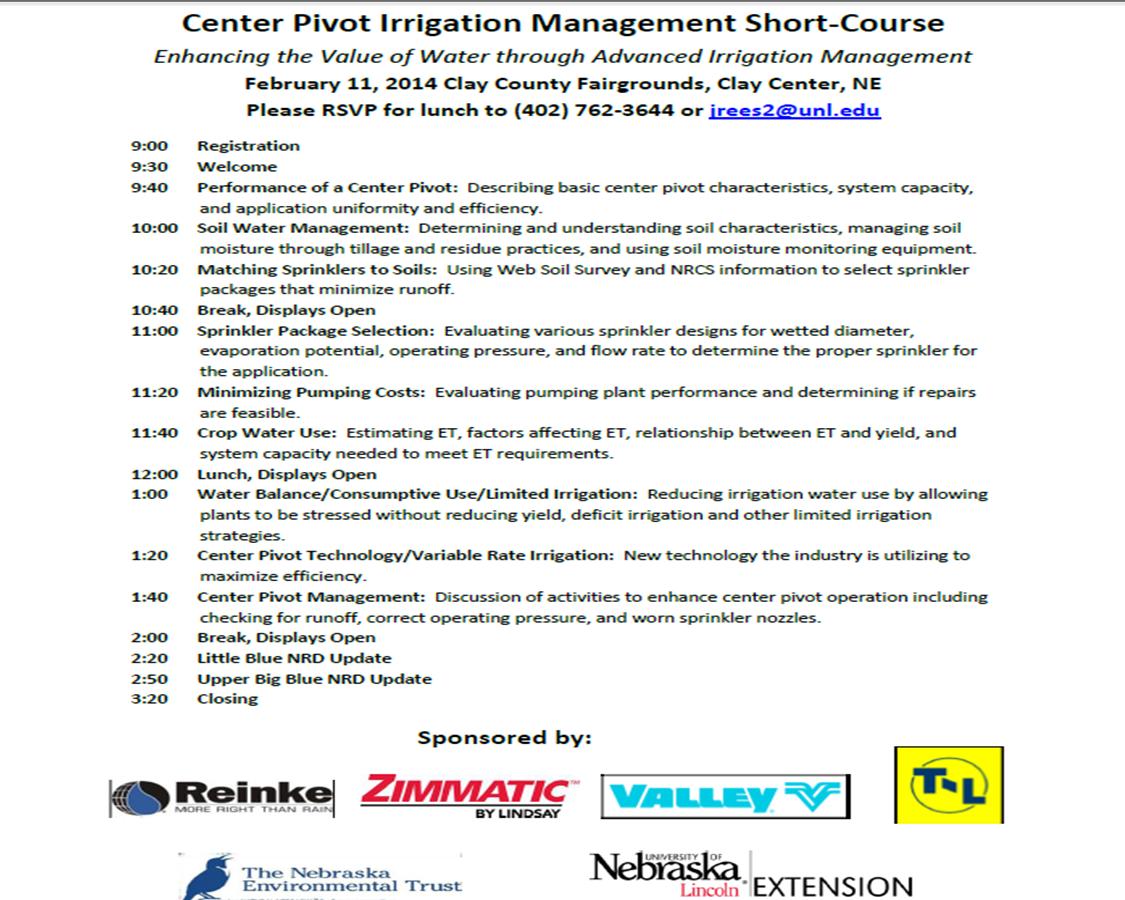 Center Pivot Management Short Course