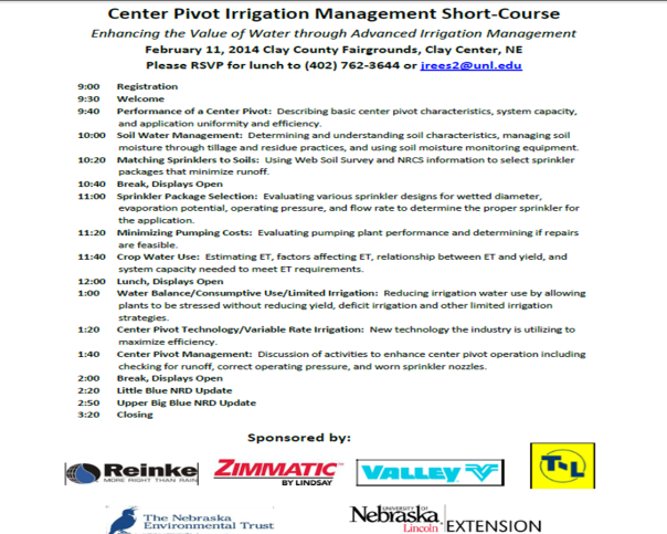 Center Pivot Management Short Course