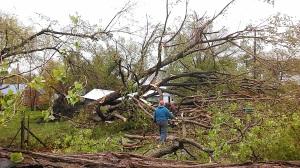 tornado damage in Sutton