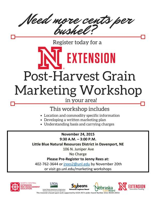 Post-Harvest Marketing flyer-Davenport